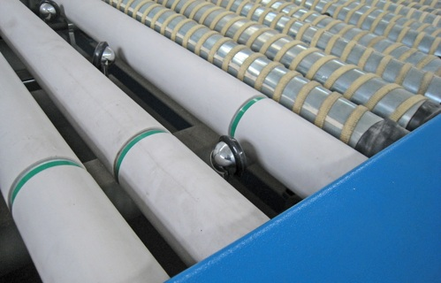 Roller coating - Pile fabrics - Applications